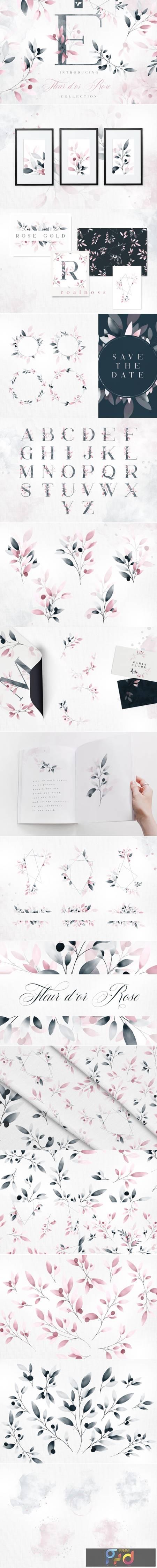 Fleur Dor Rose Graphic Collection 8639201 1