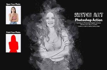 Sketch Art Photoshop Action 5787558 10