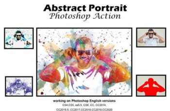 Abstract Portrait Photoshop Action 5188913 9