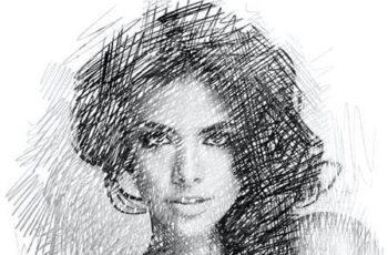 Sketch - Pencil Sketch One Click Action 30163365 5