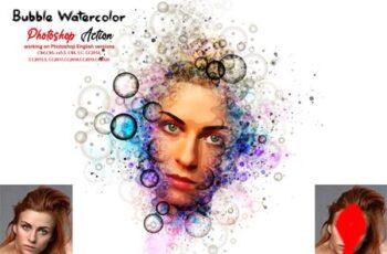 Bubble Watercolor Photoshop Action 5675952 5