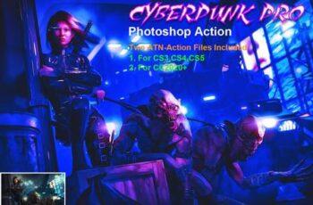 CyberPunk PRO Photoshop Action 5299609 3