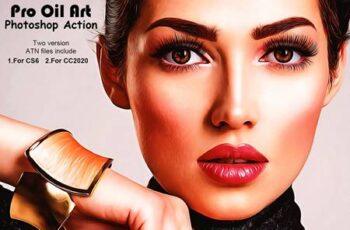 Pro Oil Art Photoshop Action 5229852 5