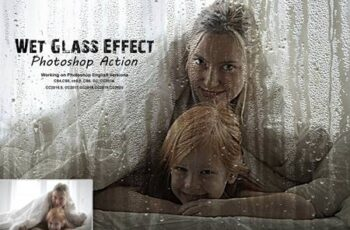 Wet Glass Effect Photoshop Action 5343501 7