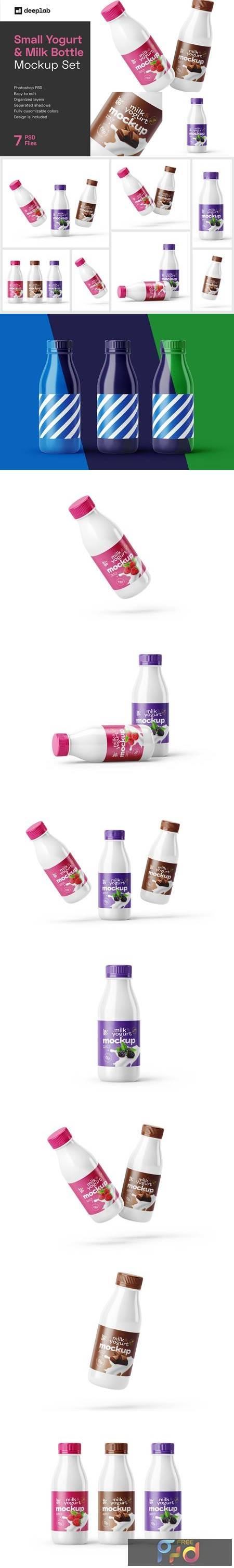 Small Yogurt & Milk Bottle Mockup 5891639 1