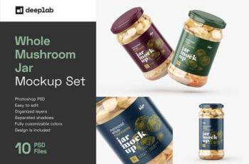Whole Mushroom Jar Mockup Set 5887130 3