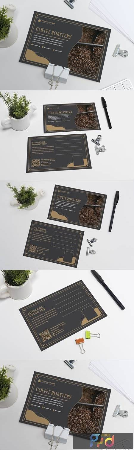 Coffee Roastery Postcard Template C4KJEX9 1