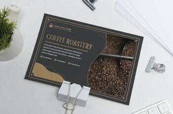 Coffee Roastery Postcard Template C4KJEX9 2