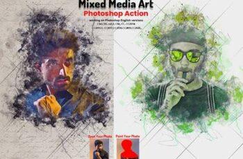 Mixed Media Art Photoshop Action 5745826 5