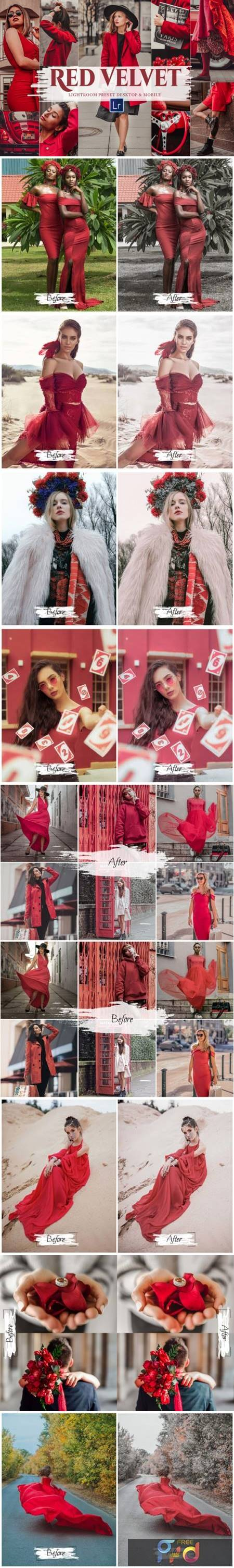 10 Red Velvet Mobile & Lightroom Presets 8719463 1