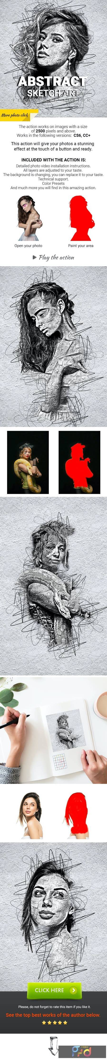 Abstract Sketch Art Photoshop Action 29913460 1
