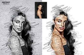 Abstract Sketch Art Photoshop Action 29913460 7