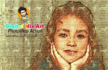 Digital Mix Art Photoshop Action 5794990 6