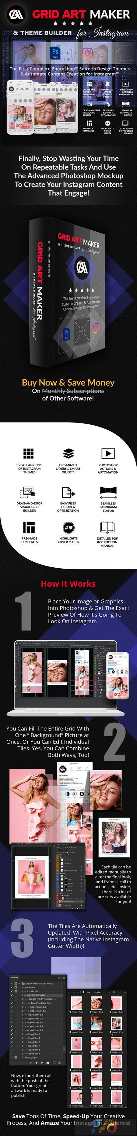 Instagram Grid Art Maker - All-In-One Photoshop Suite 30243603 1