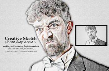 Creative Sketch Photoshop Action 5192355 5