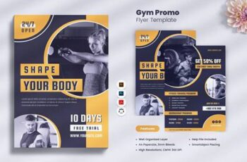 Gym - Fitness Promo Flyer TJK6M5E 6