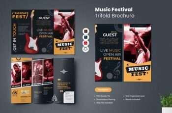 Music Festival Trifold Brochure GBGW6JY 3
