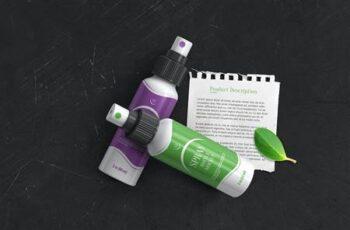 Plastic Spray Bottle Mockup DXBK33R 10