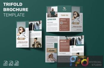 Spring Collection - Trifold Brochure Template B66T3CZ 2
