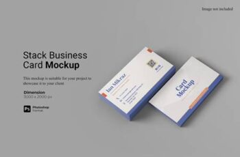 Stack Business Card Mockup 64LPCLX 12