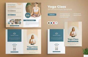 Yoga Class Bifold Brochure BWNNDEC 5