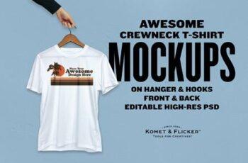 Realistic T-shirt Mockups on Hangers 5778795 7
