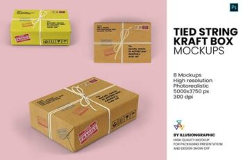Tied string kraft box mockups 5729381 16