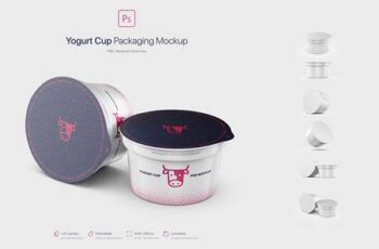 Yogurt Cup Packaging Mockup 5779934 14