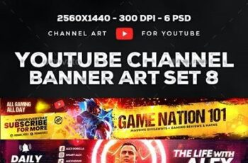 Epic Youtube Channel Art Set 8 30160907 8