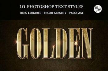 Golden Decorative Text Styles 30375826 2