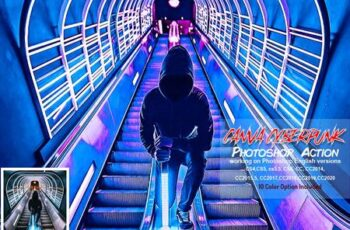 Canva Cyberpunk Photoshop Action 5819597 2