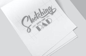 Sketching Paper Pad Mockups 3ADR2HF 2