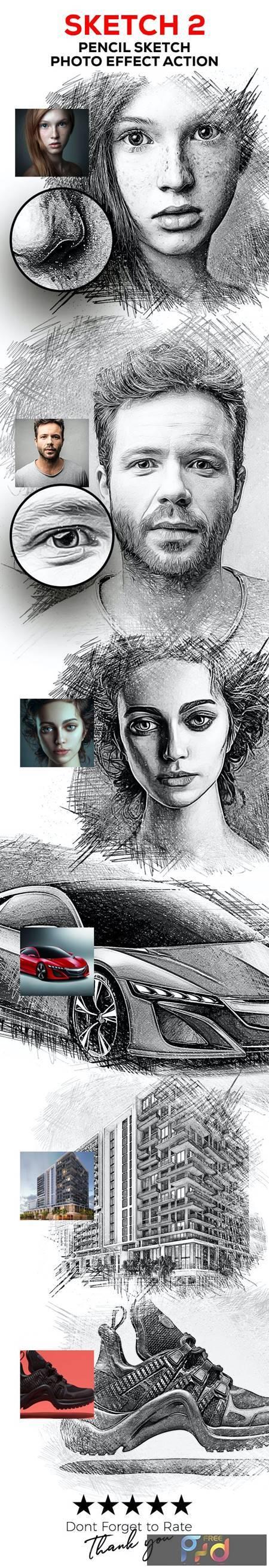 Sketch V2 - Pencil Sketch One Click Action 30298741 1