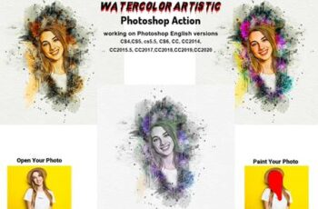 Watercolor Artistic Photoshop Action 5763787 4