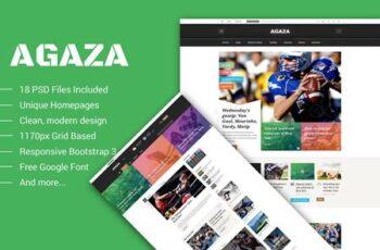 Agaza - News & Magazine PSD Template YYBRP69 3