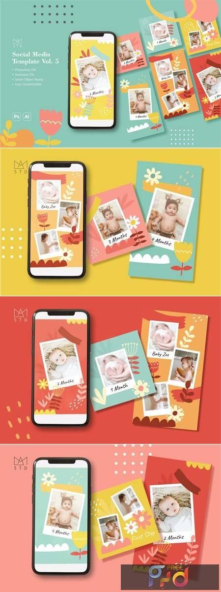 Baby Milestone Social Media Template Q3LE7UK 1