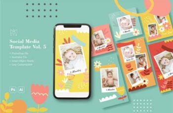 Baby Milestone Social Media Template Q3LE7UK 4