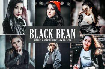 Black Bean Mobile & Desktop Lightroom Presets P9HB3UQ 3