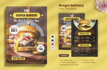 Burger Delivery Flyer NZY25B2 2