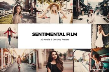 20 Sentimental Film Lightroom Presets & LUTs 5929618 5