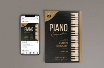 Piano Night Concert Template Set JX24YSC 11