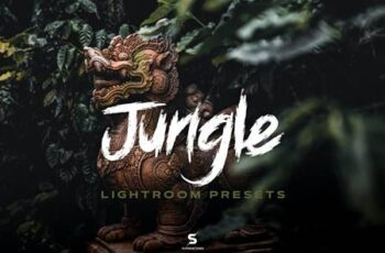 Jungle Lightroom Presets - Cinematic Green Forest HBMLB5N 3