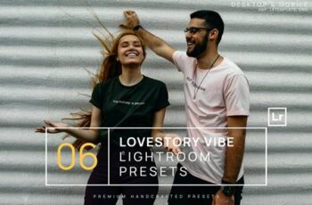 6 Lovestory Vibe Lightroom Presets + Mobile Y7CFWEB 6