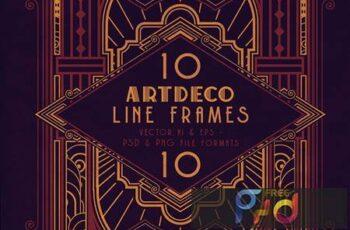 10 ArtDeco Line Frames DDHU6EY 7