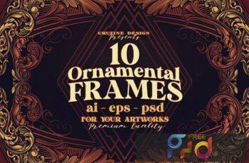 10 Frames Vol.8 - Victorian Ornament N2CBCTJ 4