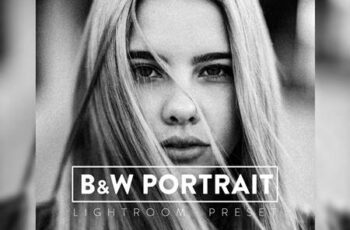 10 Black and White Portrait Lightroom Preset CUFC2SK 6