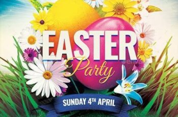 Easter Party Flyer 30335332 3