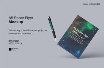 A5 Paper Flyer Mockup E74GC8J 15