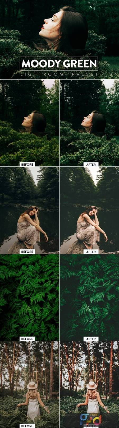 10 Moody Green Lightroom Presets 6YW9RS8 1