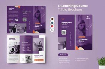 E-Learning Course Trifold Brochure YWSGDJS 13